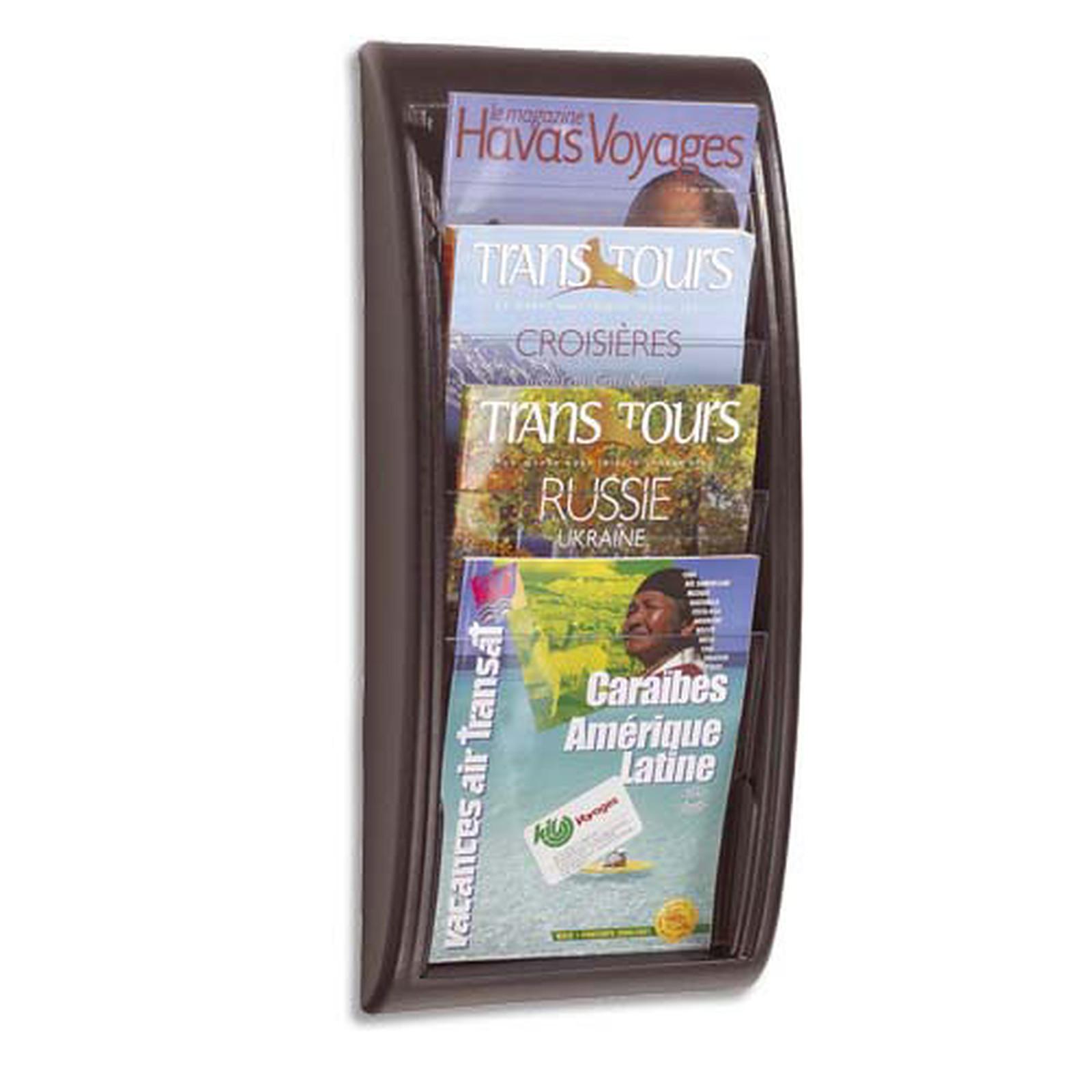 Paperflow Quick Fit présentoir mural 4 cases Noir