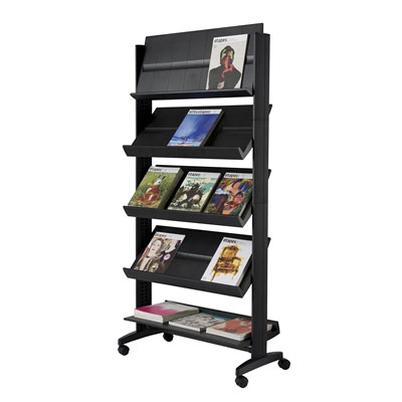 Paperflow EasyDisplays présentoir mobile 5 étagères Noir