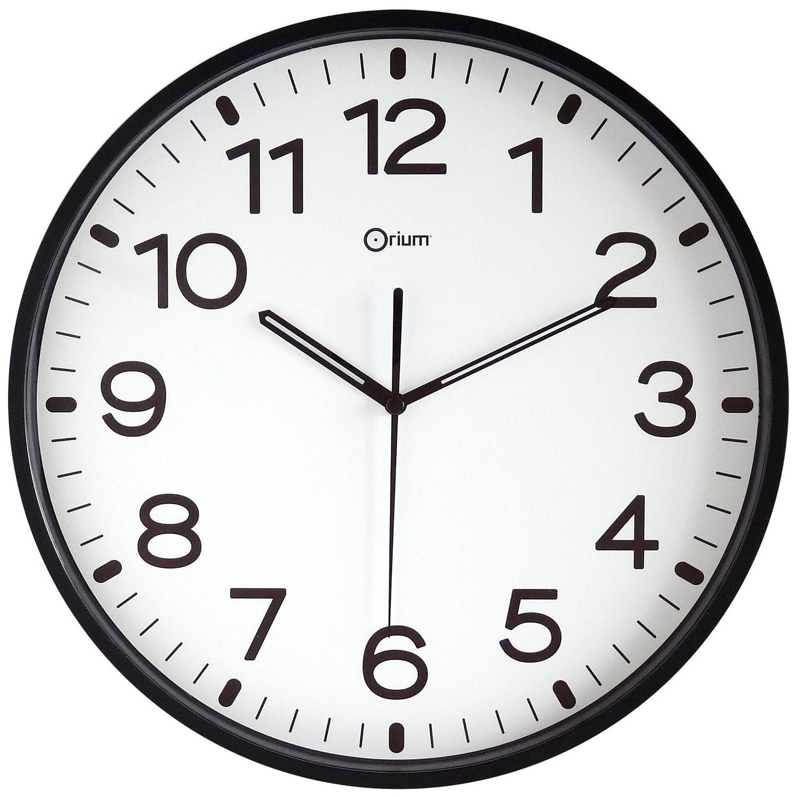 Orium Horloge silencieuse Noire