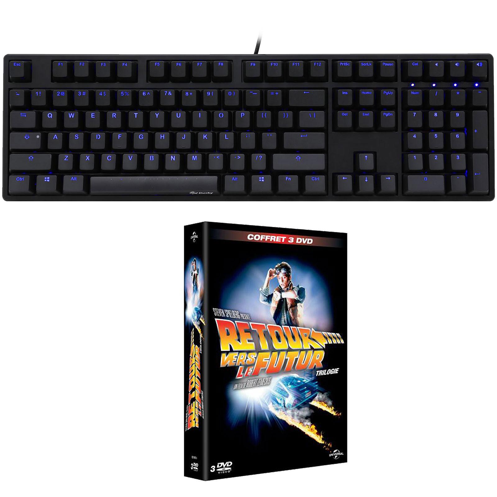 Ducky Channel One (coloris noir - MX Red - LEDs bleues) + coffret DVD OFFERT !