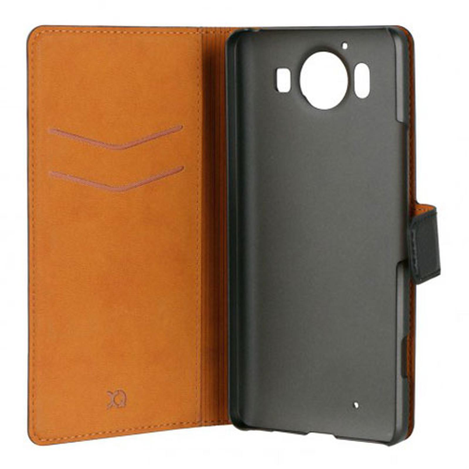 xqisit Etui Folio Wallet Slim Noir Microsoft Lumia 950