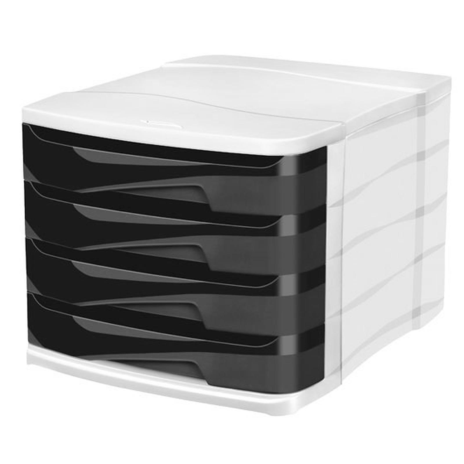CEP Bloc de classement 4 tiroirs noir Ellypse 394R
