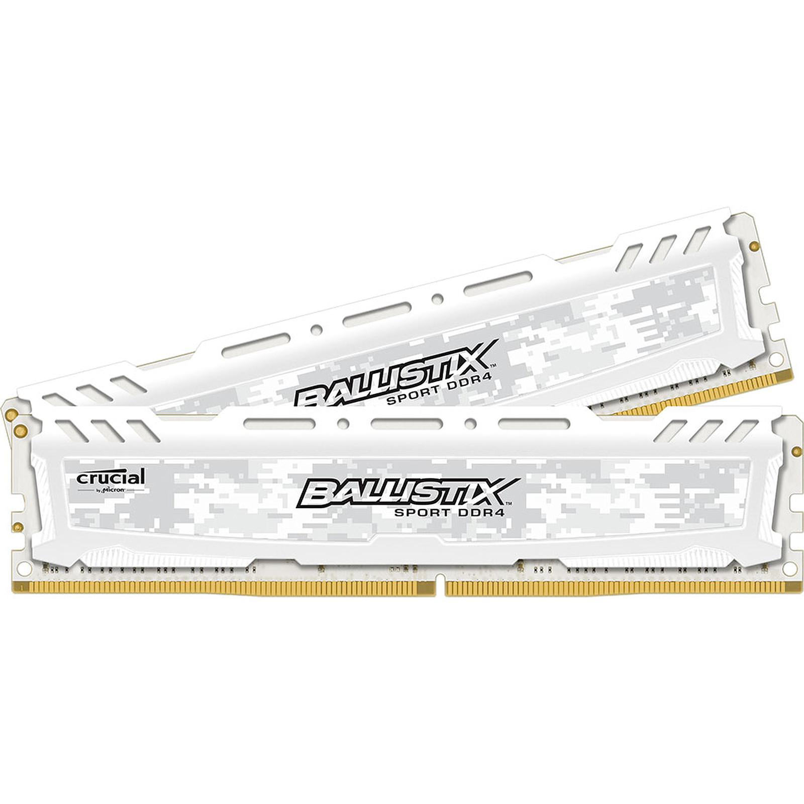 Ballistix Sport LT White 16 Go (2 x 8 Go) DDR4 2400 MHz CL16 SR
