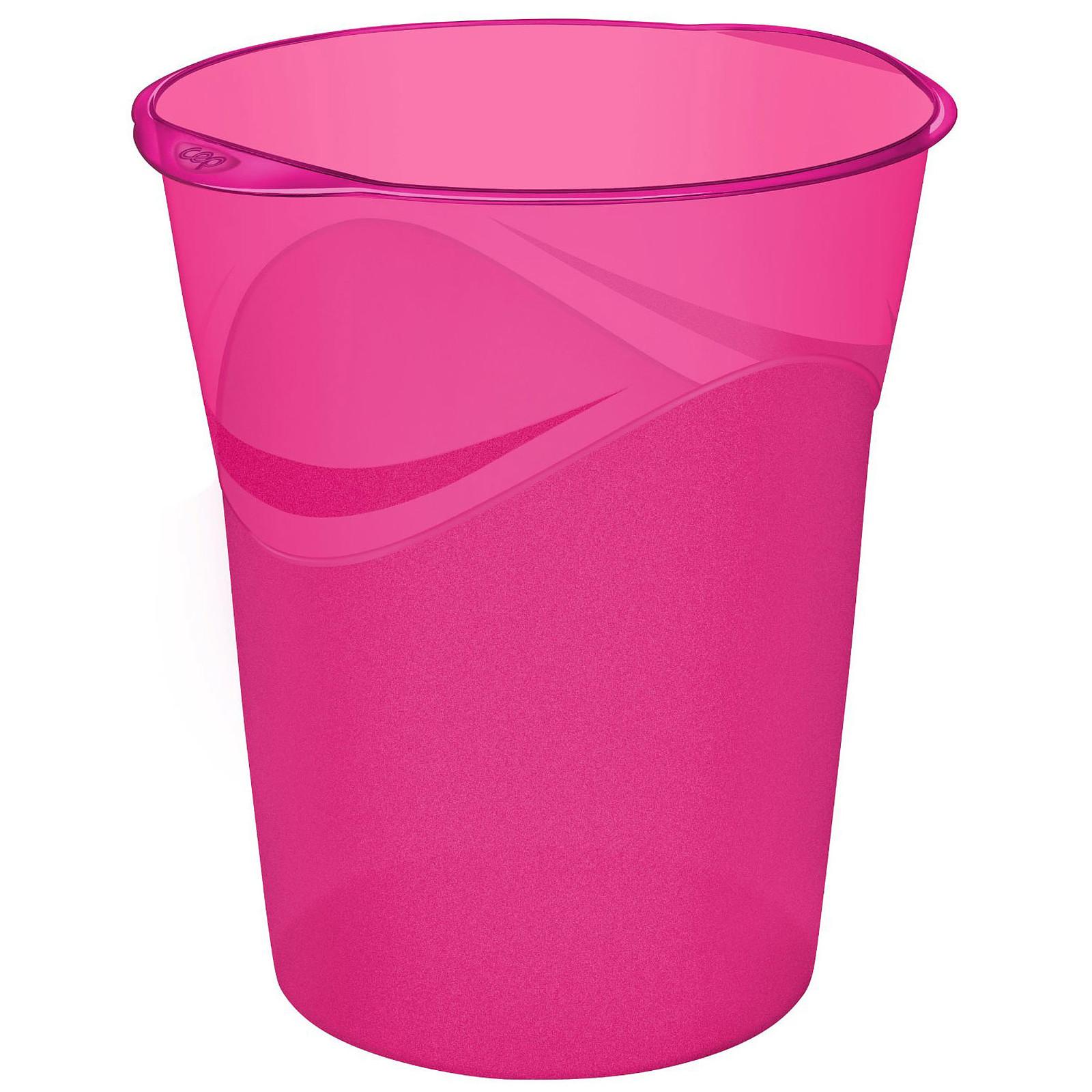 CEP Happy Corbeille à papier Rose 14 litres