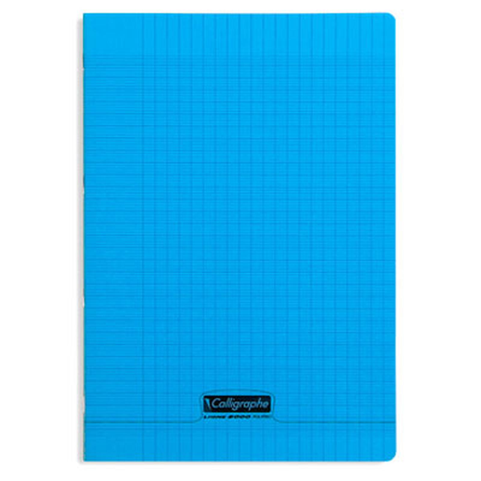 Calligraphe Cuaderno 8000 Polypro 96 páginas 21 x 29,7 cm con cuadrados grandes Azul