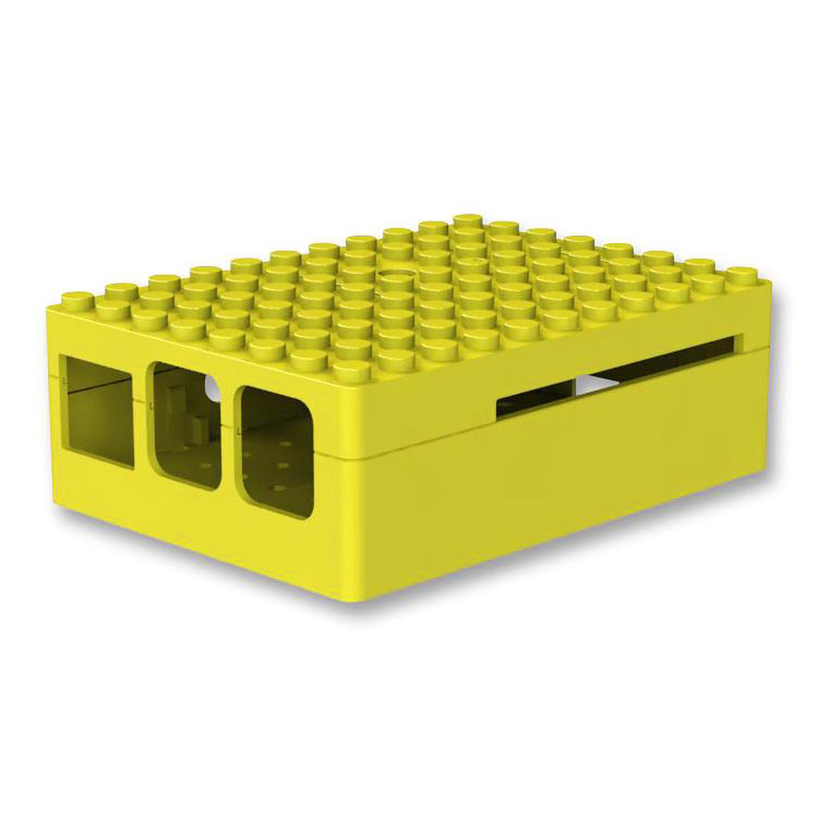 Multicomp Pi-Blox caja para Raspberry Pi 1 Model B+ / Pi 2/3 (amarilla)