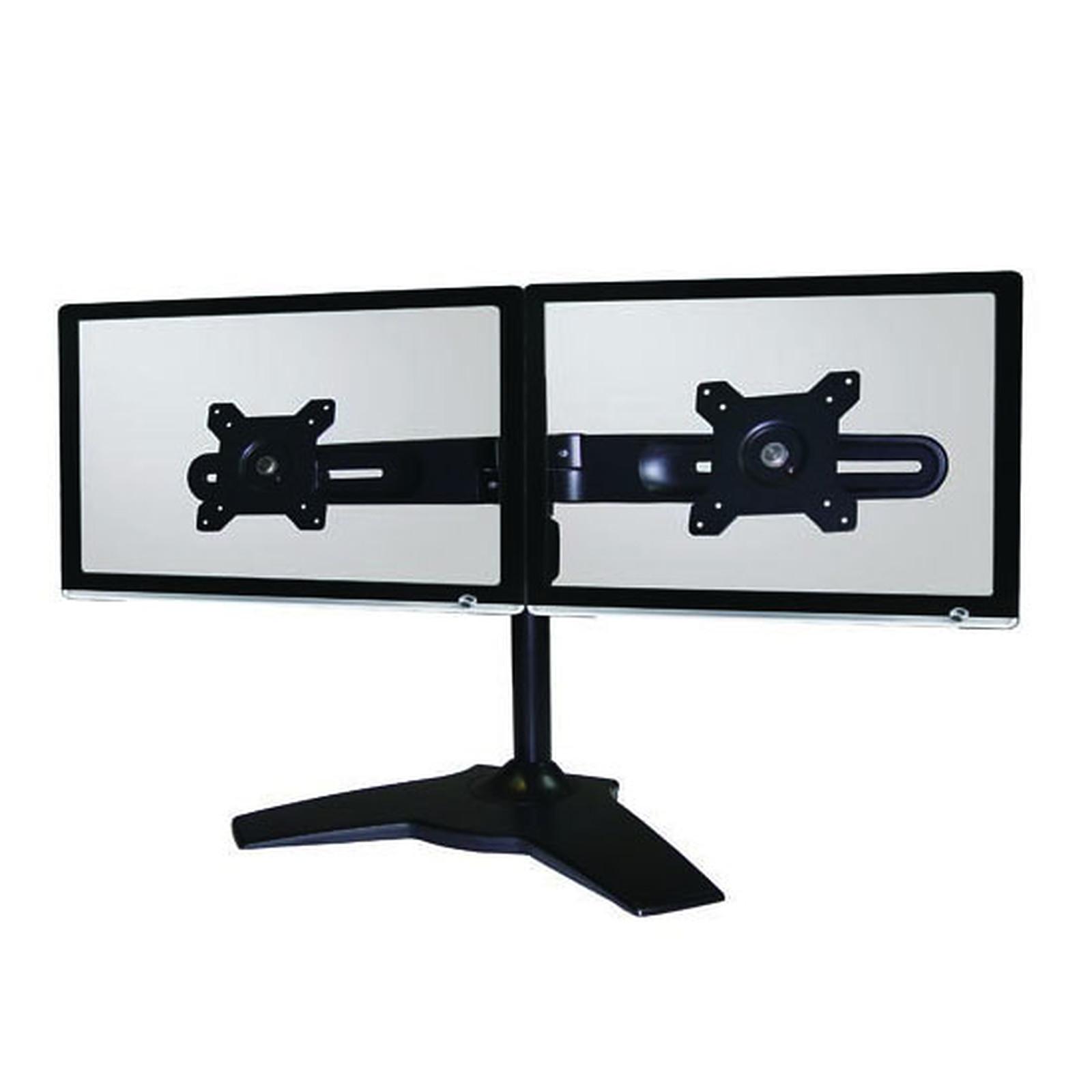 ldlc support de bureau pour 2 crans plats de 15 24. Black Bedroom Furniture Sets. Home Design Ideas