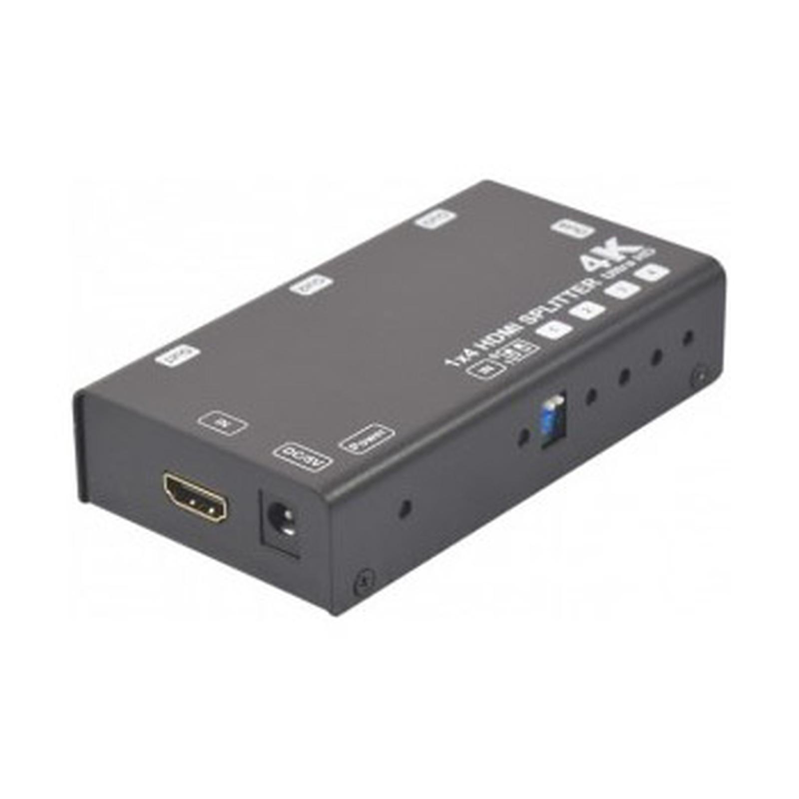 Splitter HDMI 2.0 4K & 3D (4 ports)