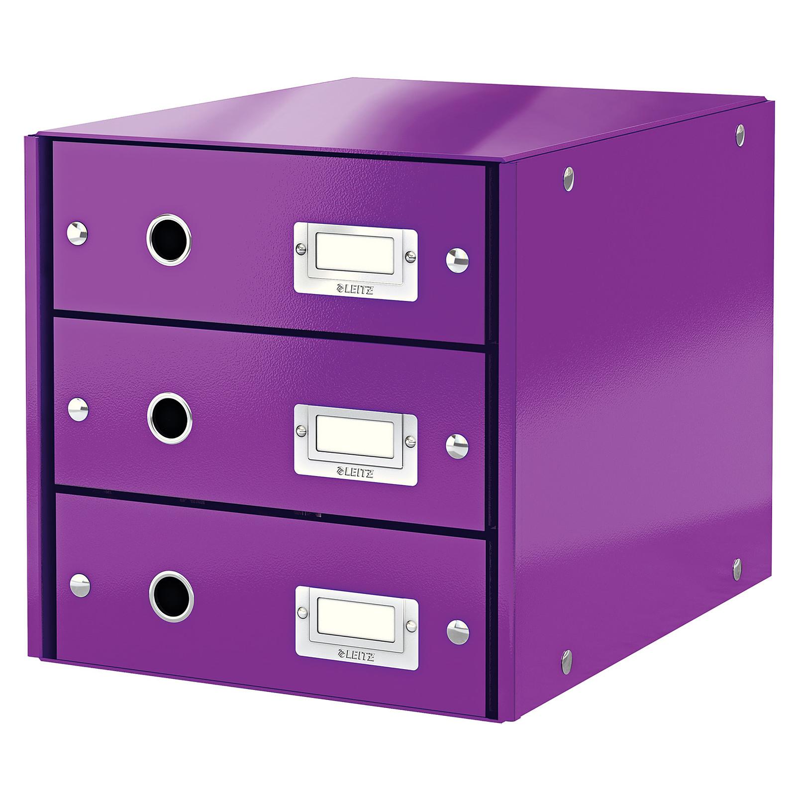 Leitz Bloc de classement à tiroirs Leitz Click & Store Violet