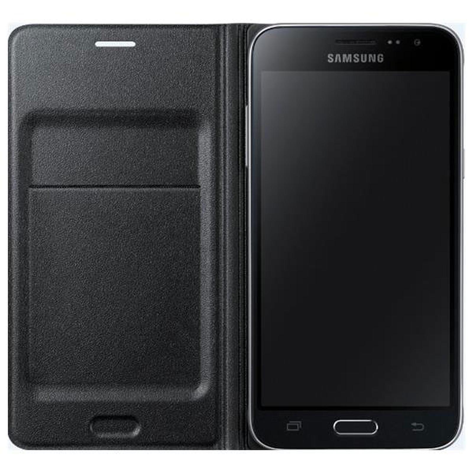 Samsung Flip Wallet Noir Samsung Galaxy J1 2016