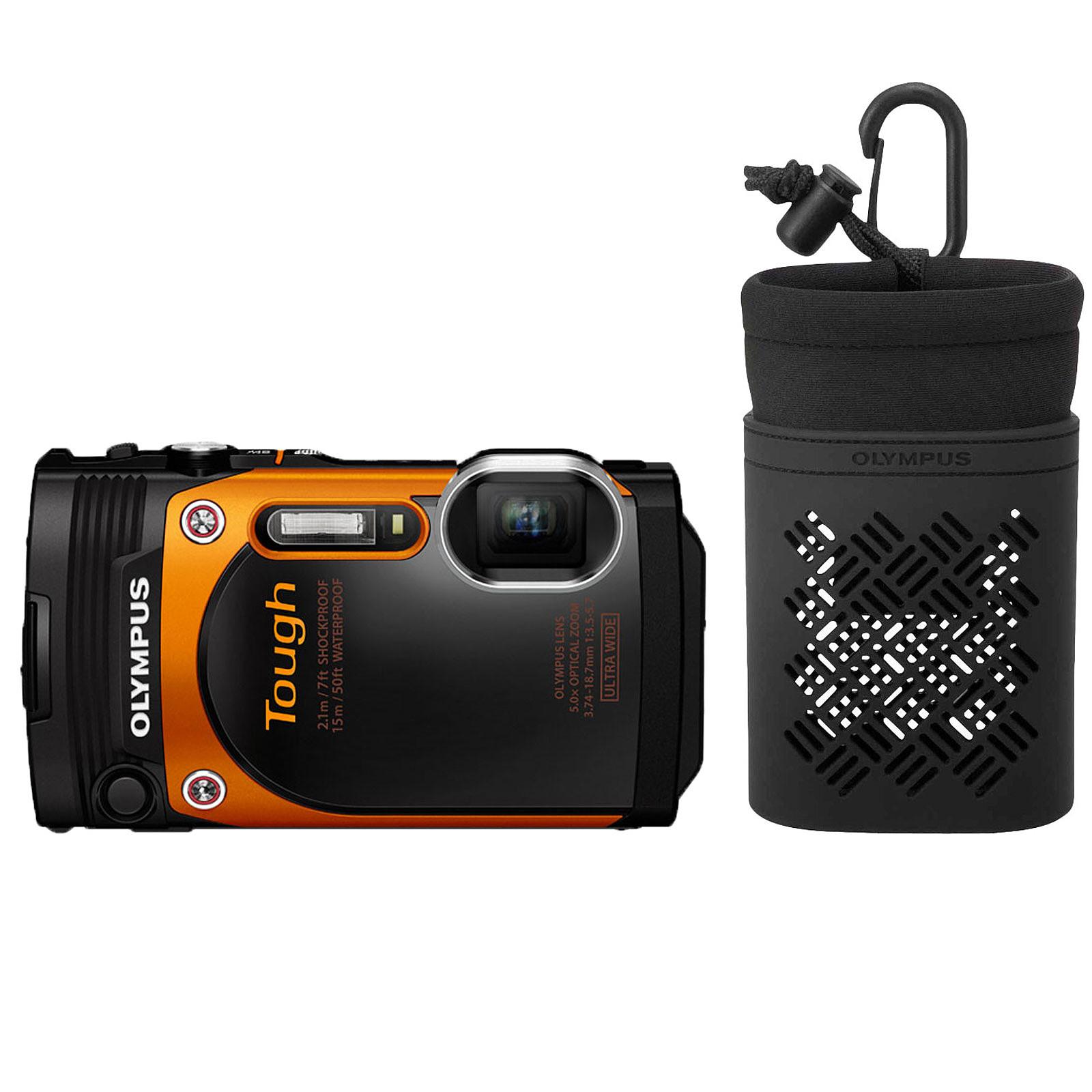 Olympus TG-860 Orange + Olympus CSCH-121 Noir