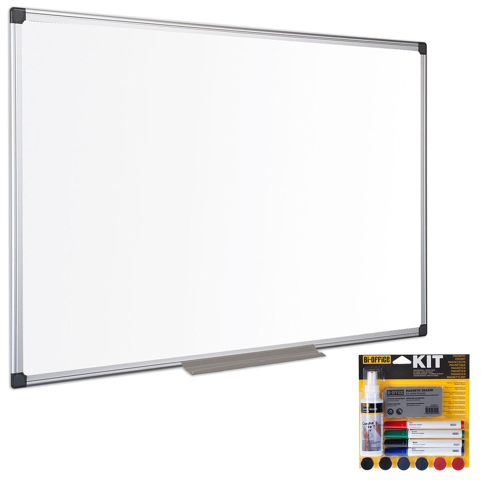 Bi-Office Tableau blanc émaillé 180 x 90 cm + Bi-Office Kit magnétique