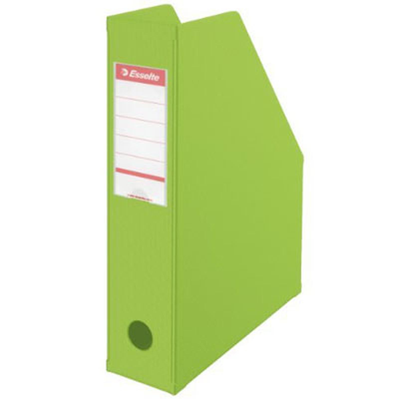 Esselte Lot de 10 porte-revues dos PVC de 10 cm Vert