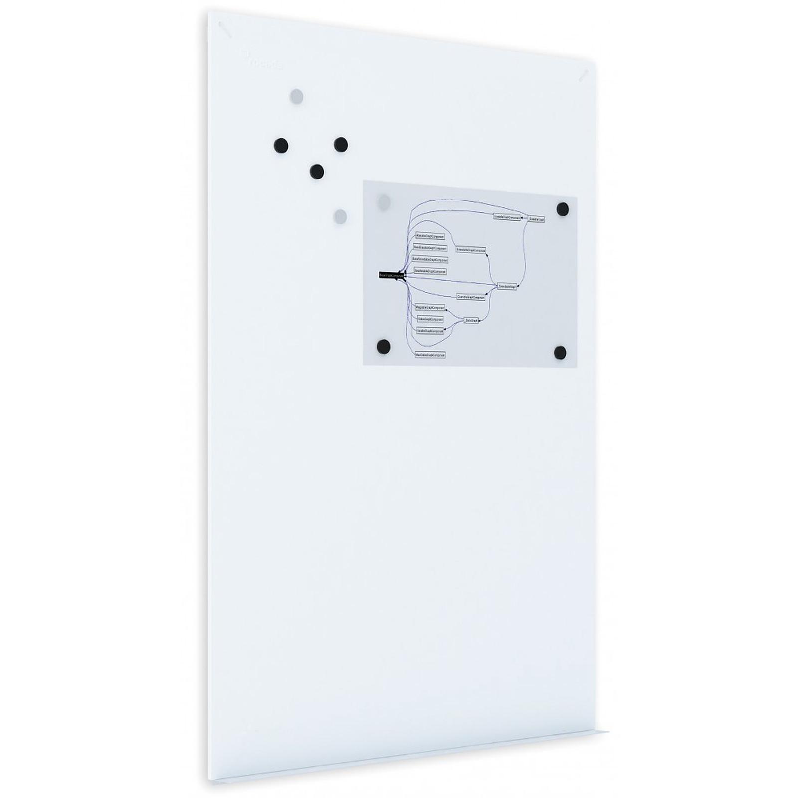 Rocada Tableau blanc métallique 75 x 115 cm