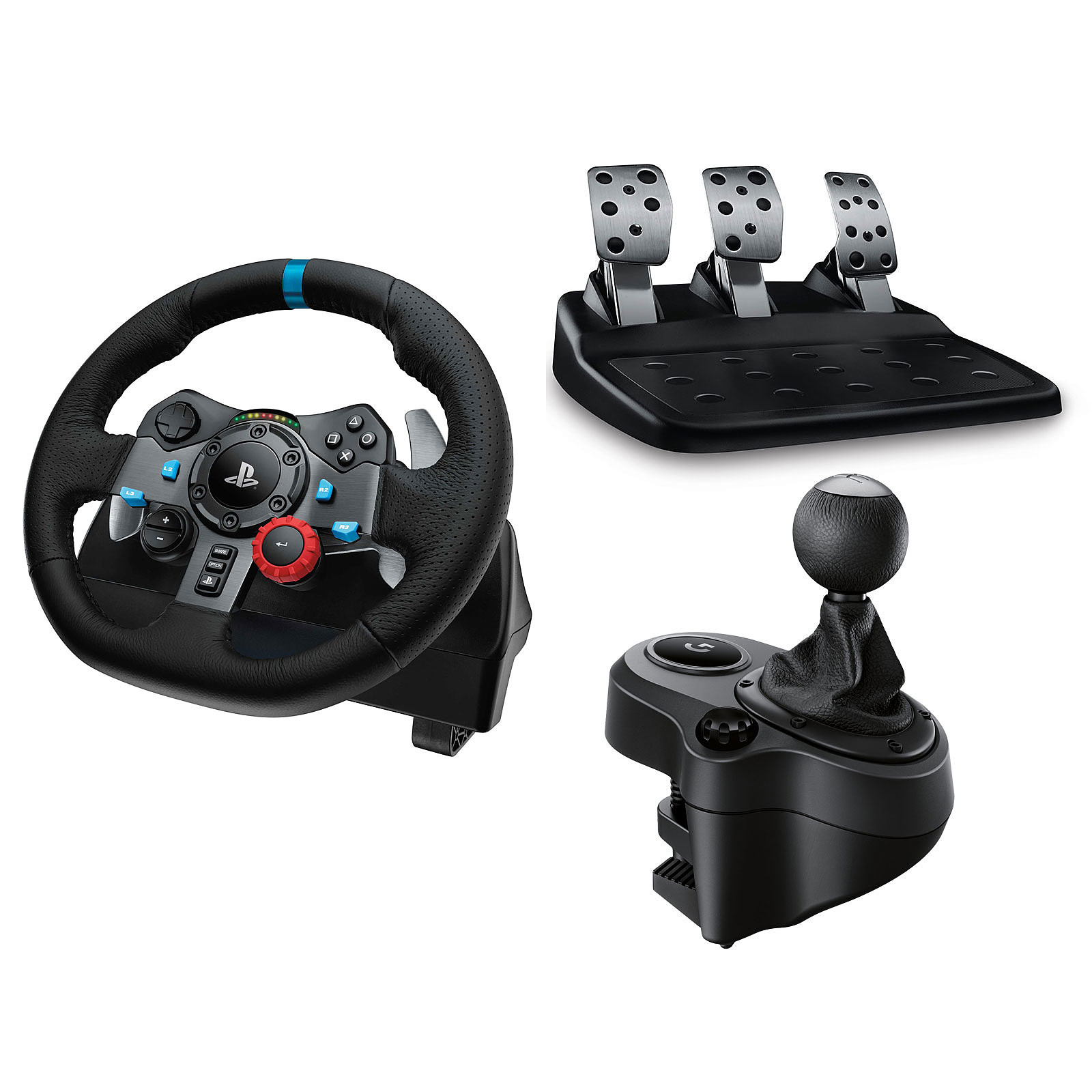 logitech g29 driving force driving force shifter volant pc logitech sur. Black Bedroom Furniture Sets. Home Design Ideas