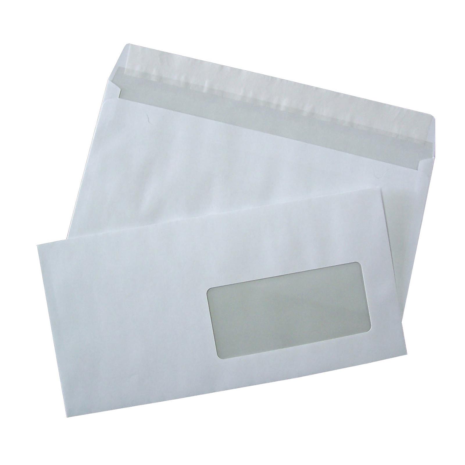 500 Enveloppes Dl Auto Adhésives 80g Fenêtre 45x100 Enveloppe
