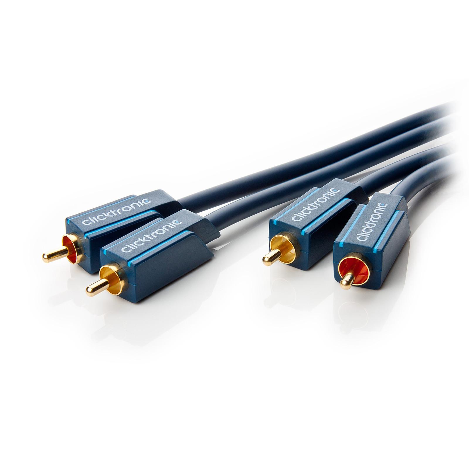 Clicktronic Câble audio RCA (2 mètres)