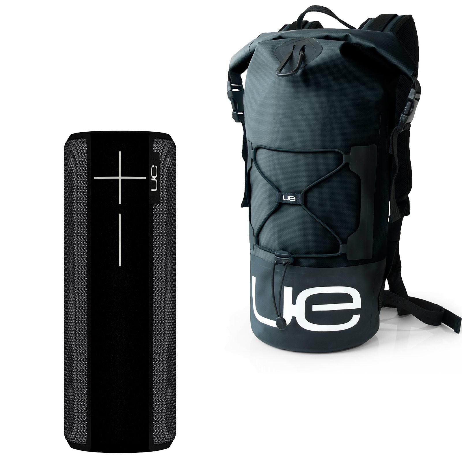 UE Boom 2 Noir + Backpack Waterproof OFFERT !