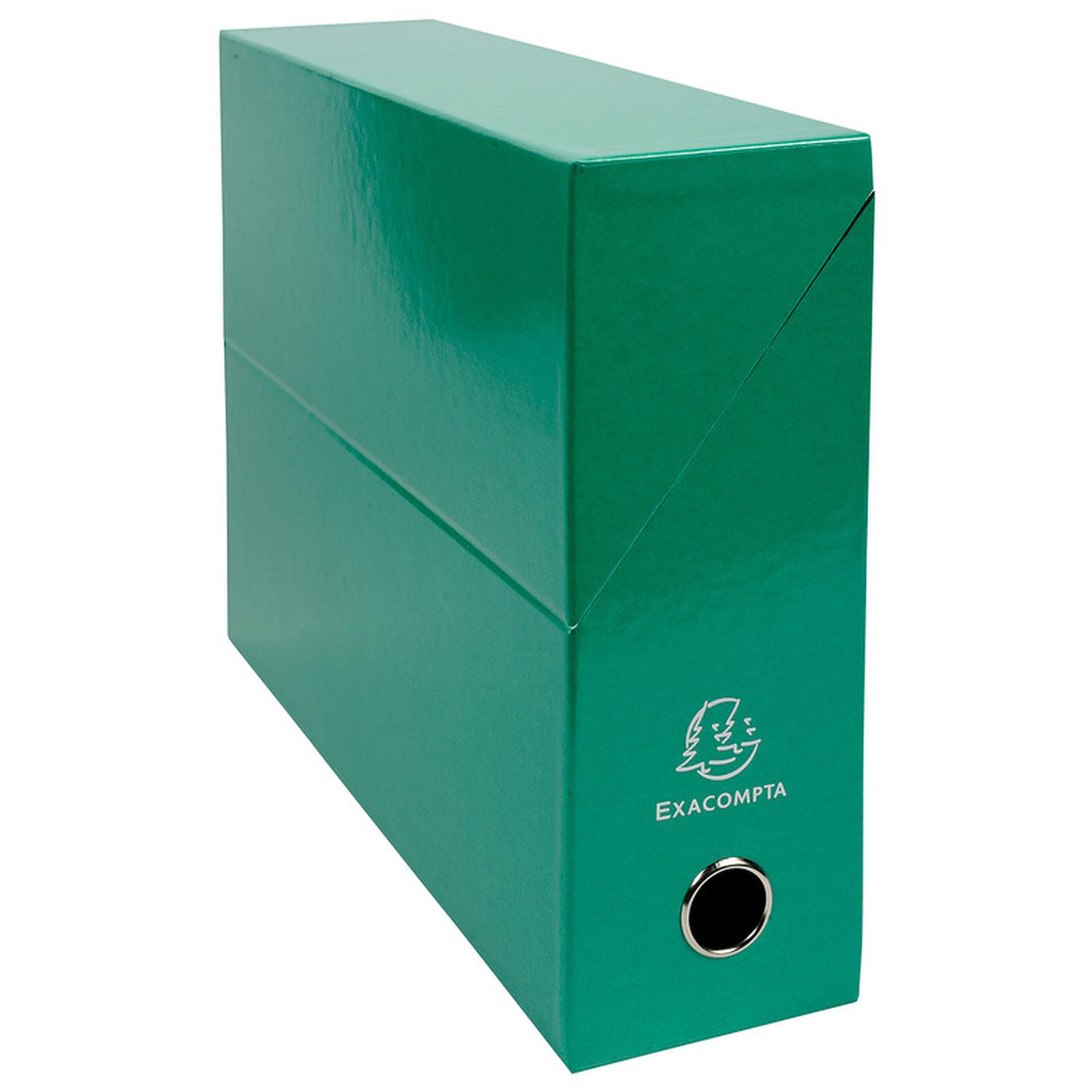 Exacompta Iderama Respaldo caja de transferencia laminada 90 mm verde oscuro