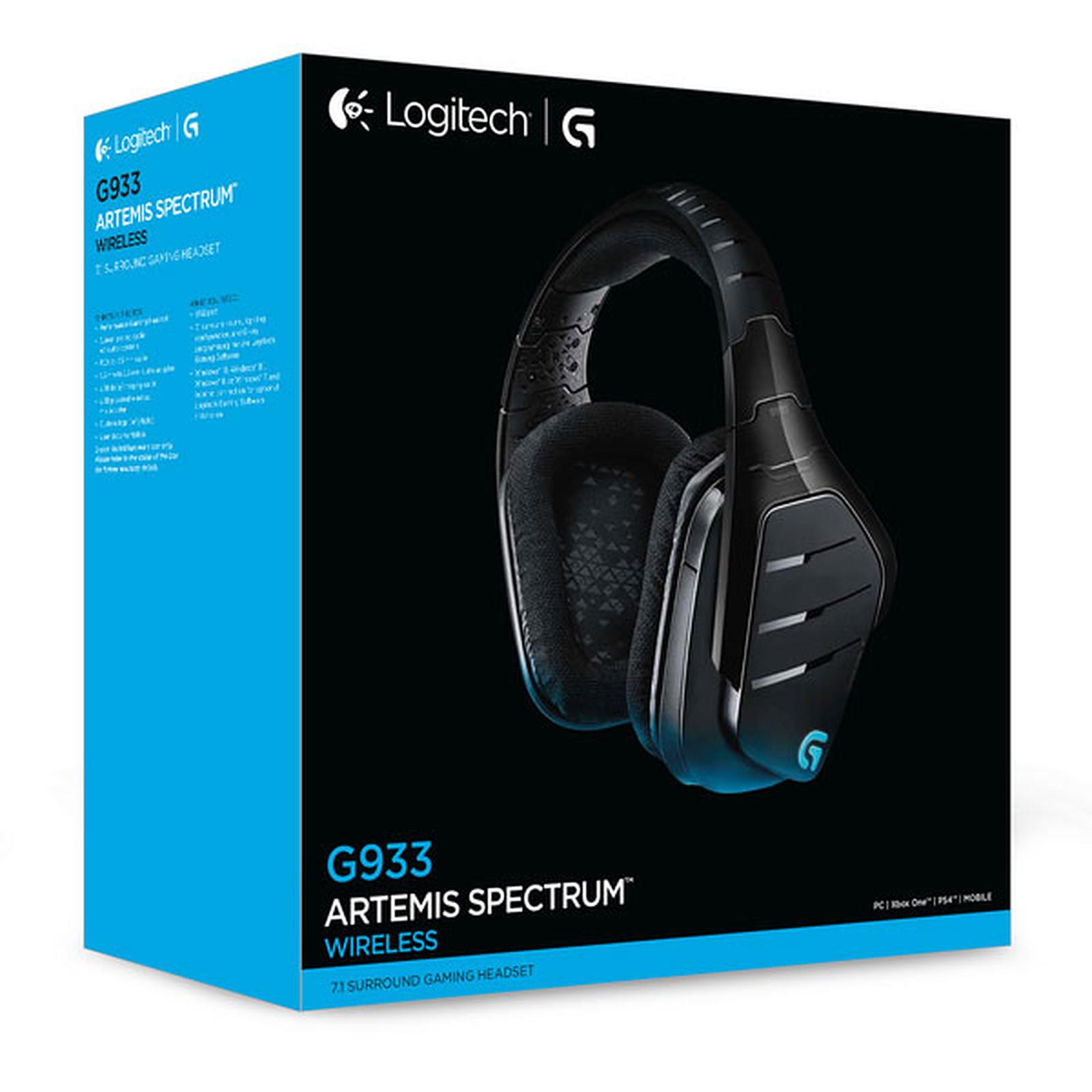 casque logitech g933 artemis spectrum wireless