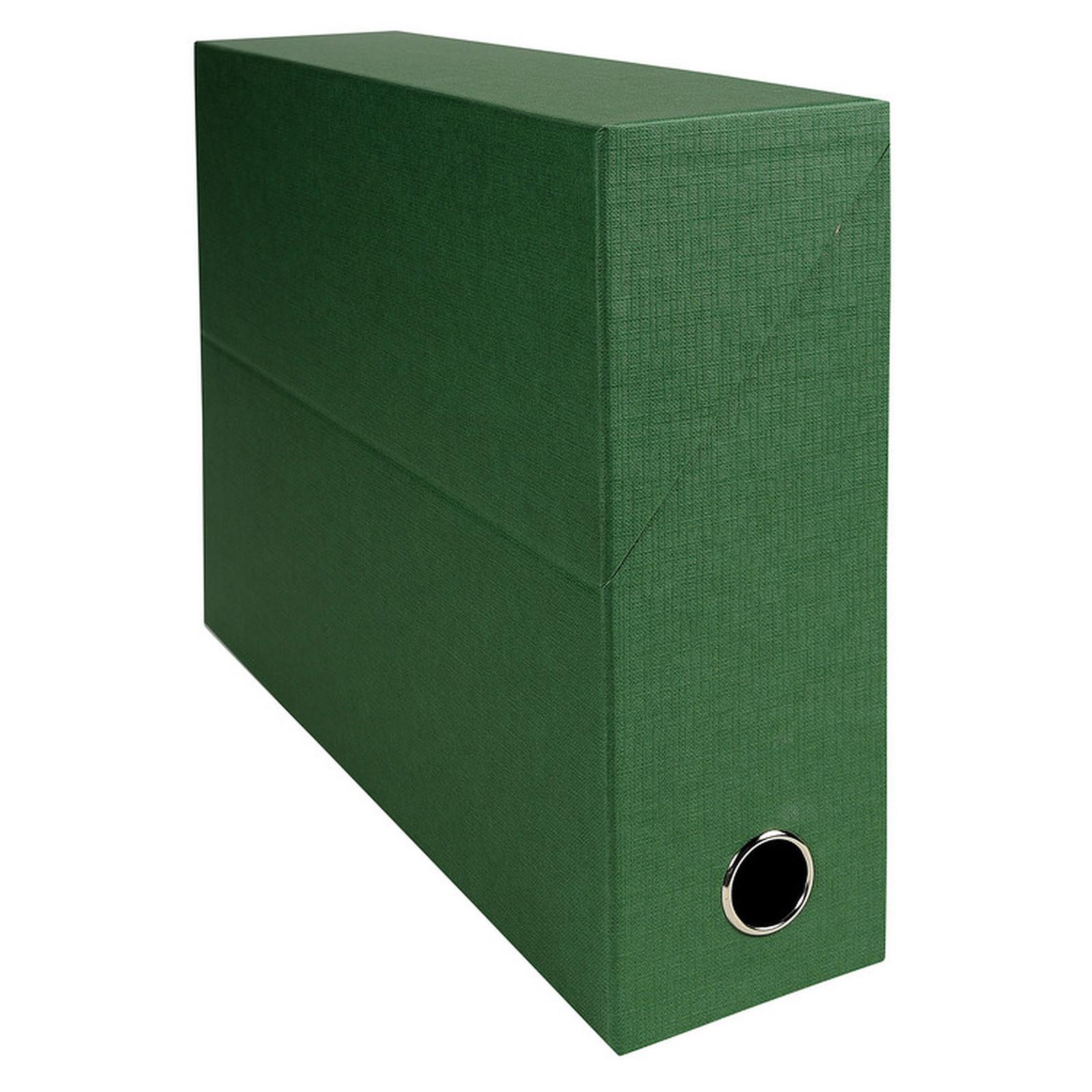Exacompta Boite de transfert en papier toilé dos 90 mm Vert