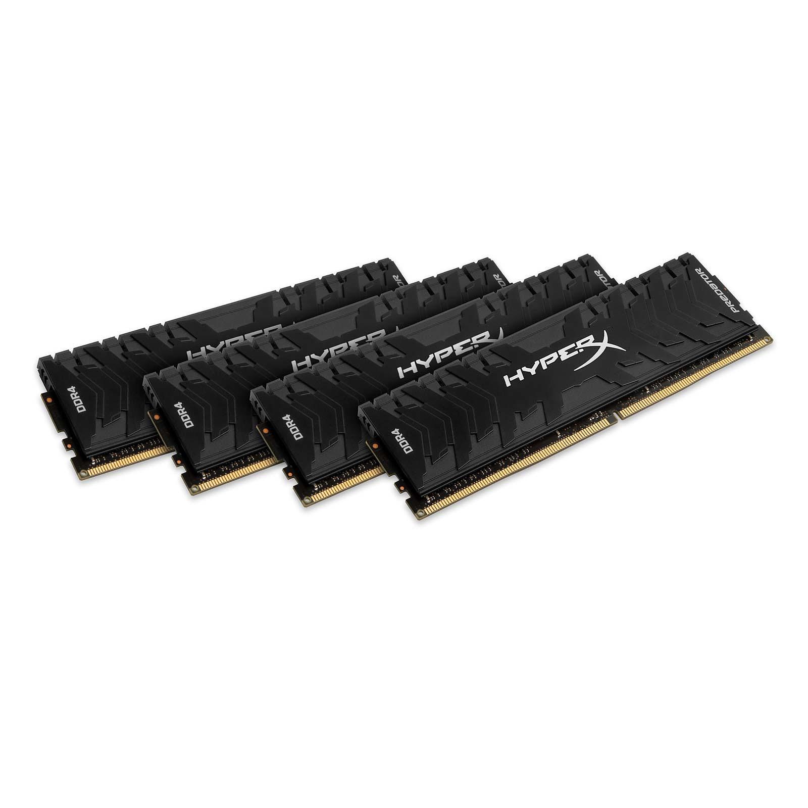 HyperX Predator Noir 64 Go (4x 16 Go) DDR4 3200 MHz CL16
