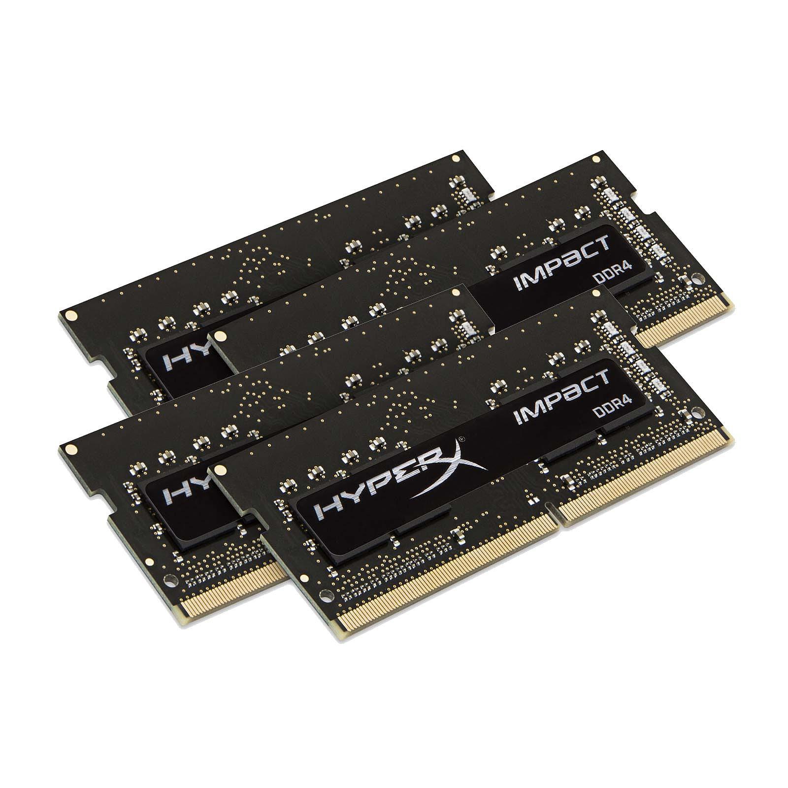HyperX Impact SO-DIMM 64 Go (4 x 16 Go) DDR4 2400 MHz CL15