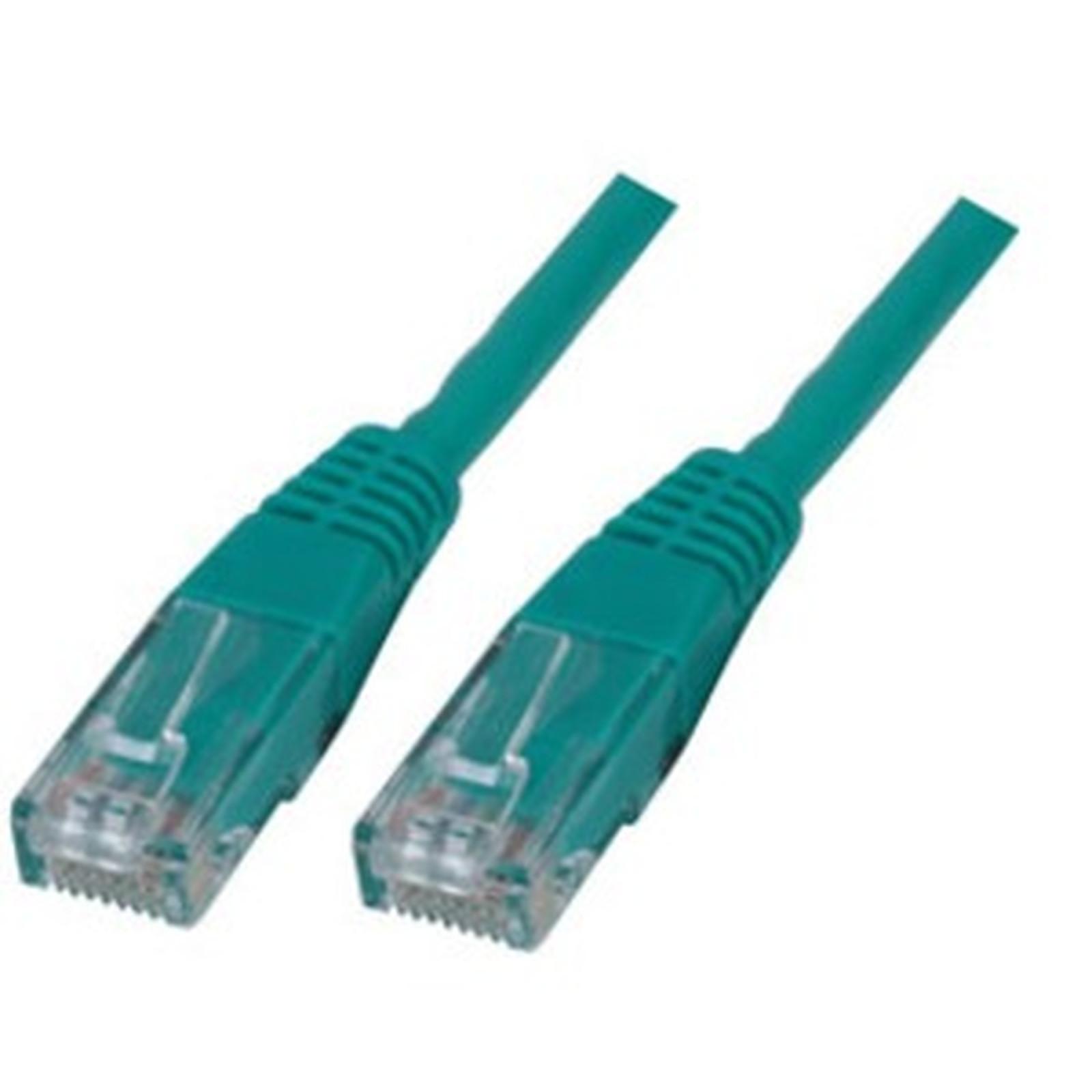 Cable RJ45 de categoría 6 U/UTP 10 m (verde)