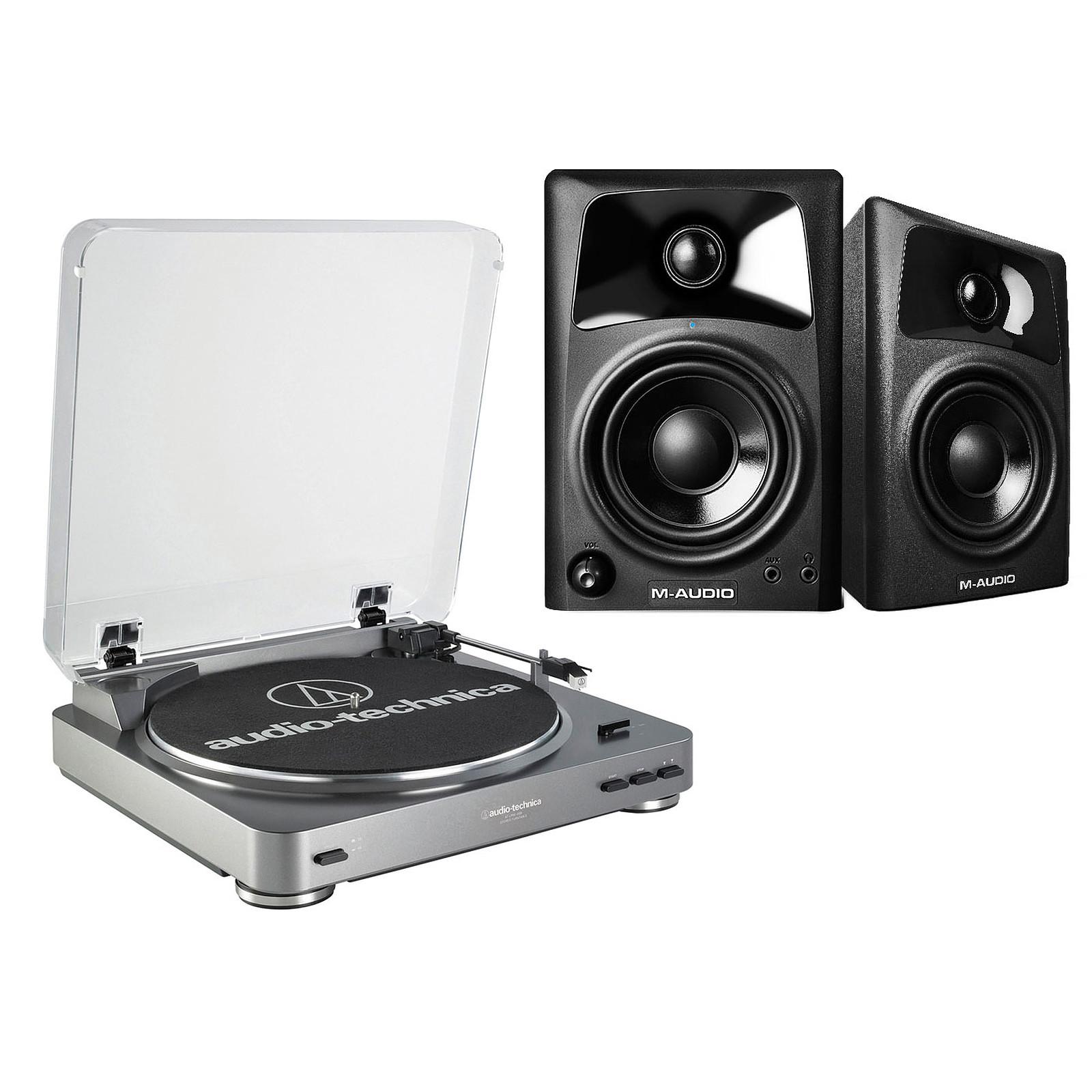 Audio-Technica AT-LP60USB + M-Audio AV 32