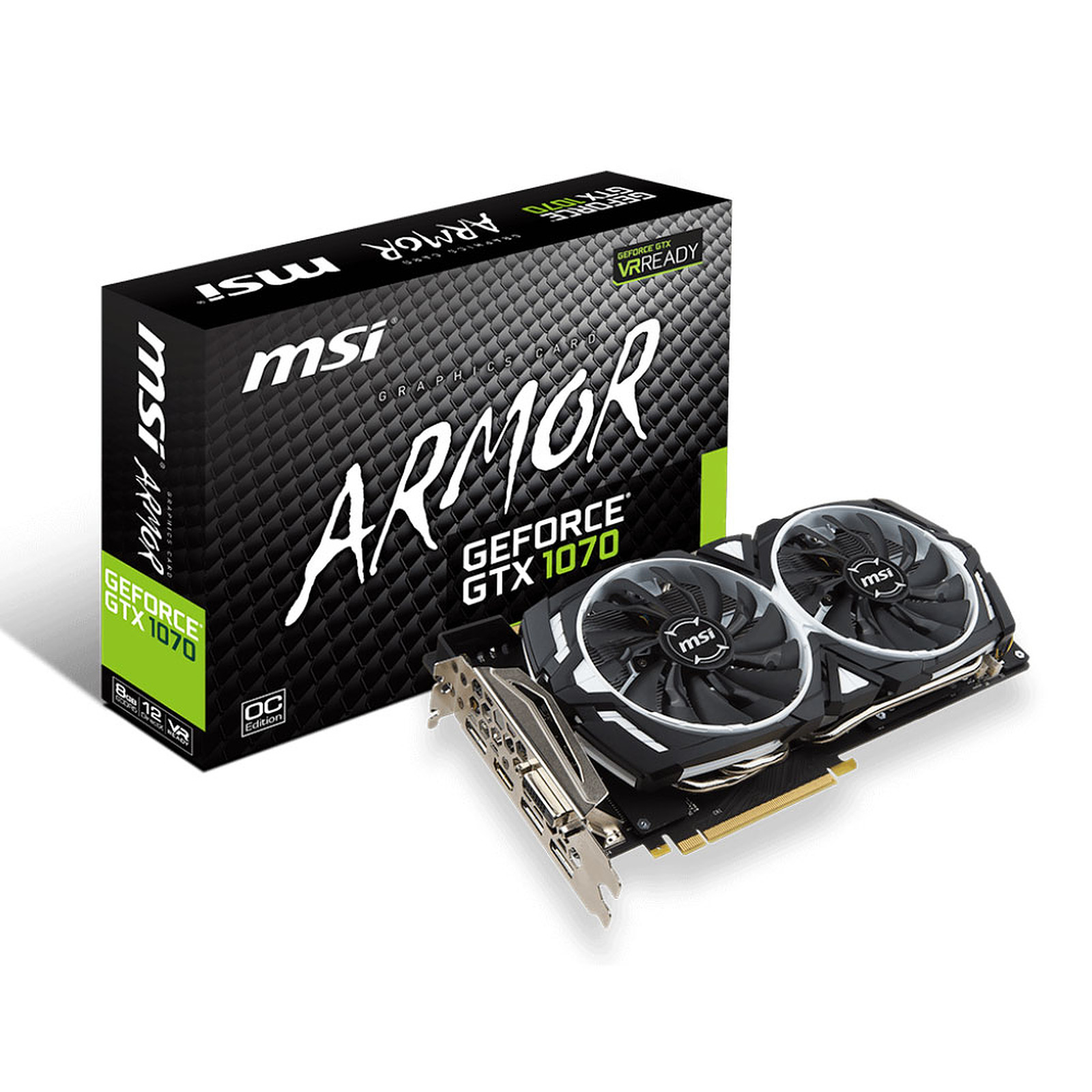 MSI GeForce GTX 1070 ARMOR 8G OC