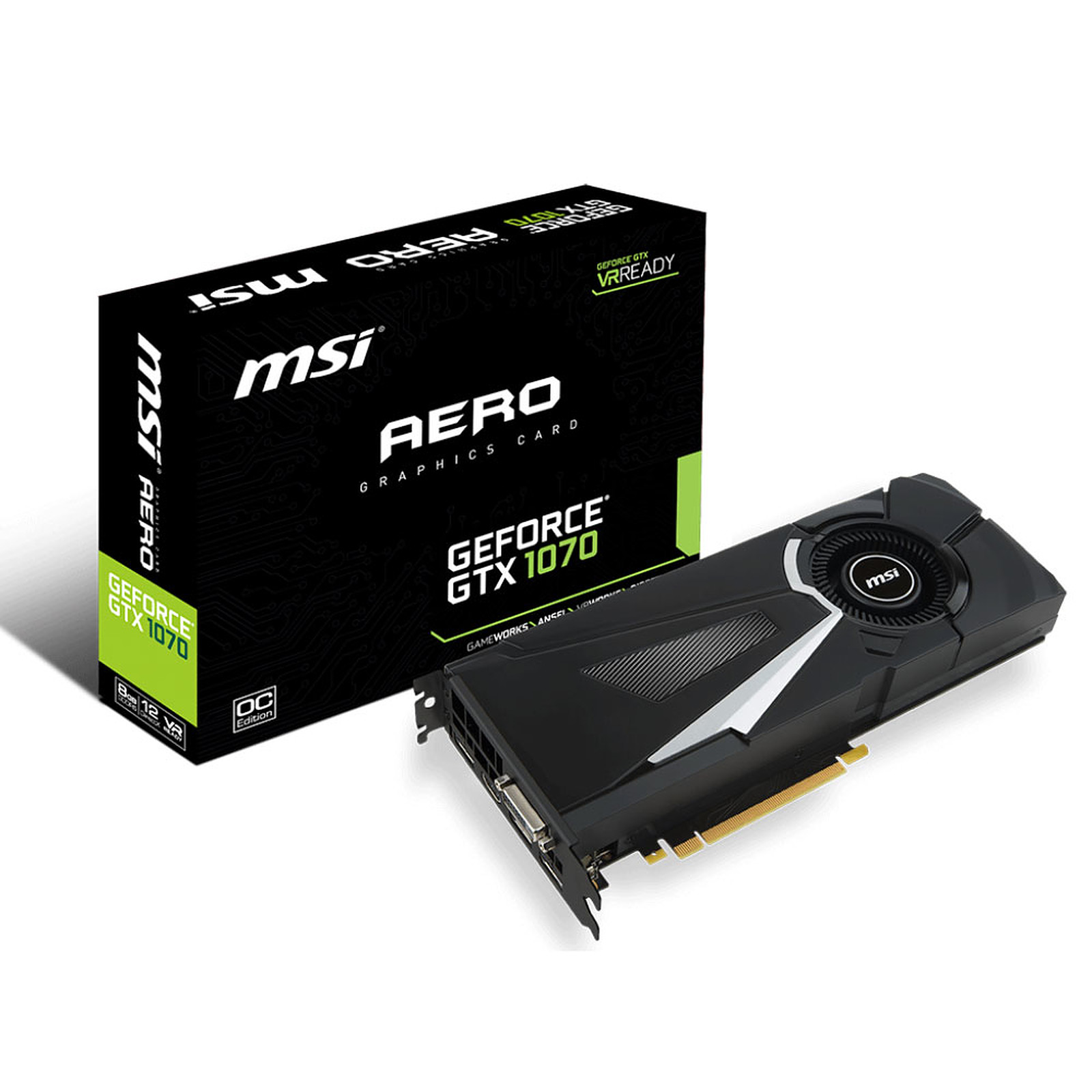 brand new 43704 d5ab0 MSI GeForce GTX 1070 AERO 8G OC