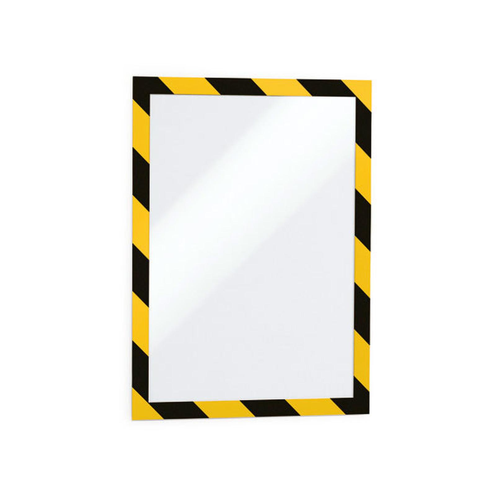 Durable Sachet de 2 cadres Duraframe Security A4 Jaune/Noir