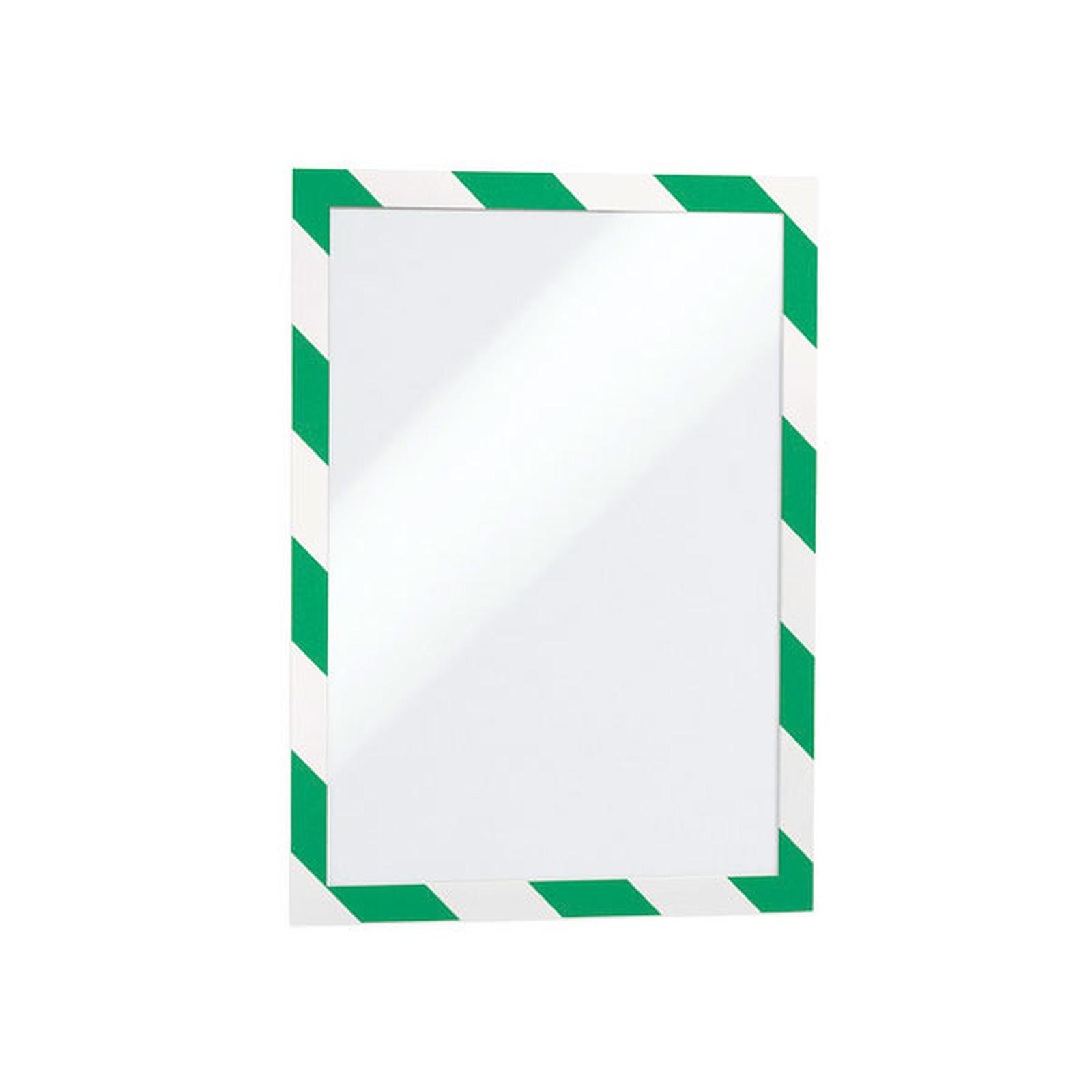 Durable Sachet de 2 cadres Duraframe Security A4 Vert/Blanc