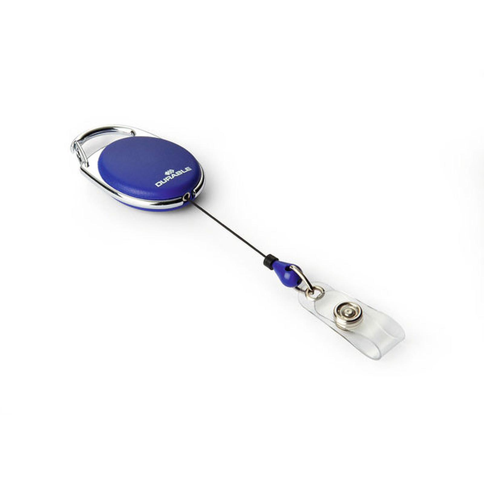 DURABLE Enrouleur Style avec lanière bouton Bleu x 10