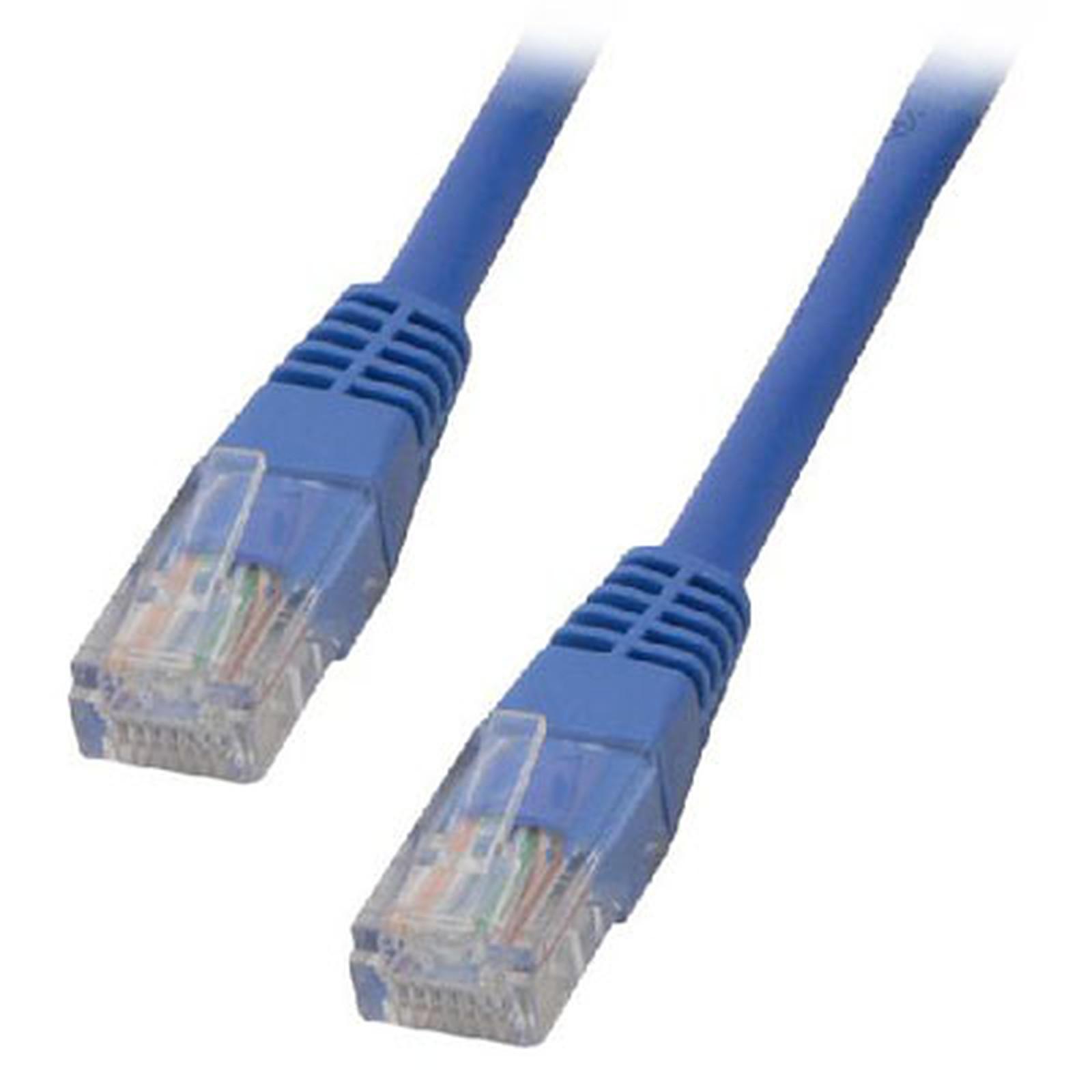 Câble RJ45 catégorie 5e U/UTP 2 m (Bleu)