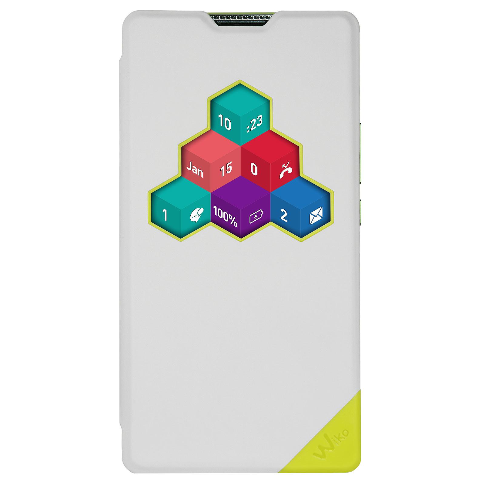 Wiko Etui Smart Folio Wicube Blanc Wiko Robby