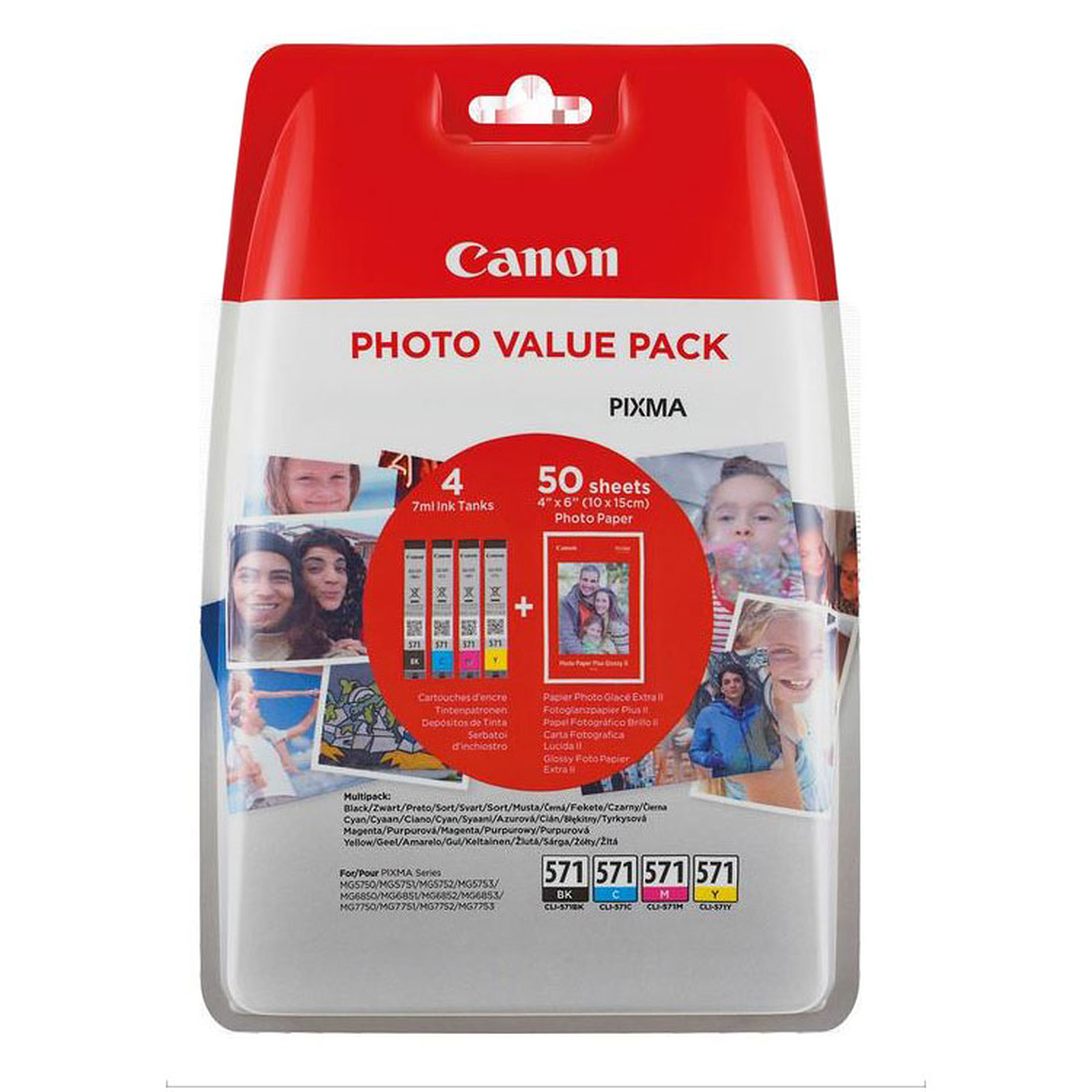 Canon CLI-571 BK/C/M/Y Photo Value Pack