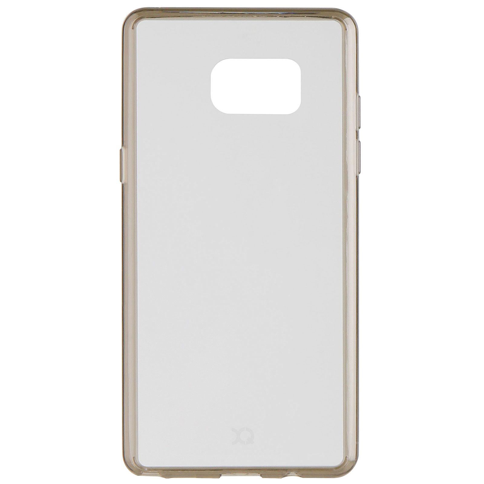 xqisit Coque Odet transparente/grise Galaxy Note 7