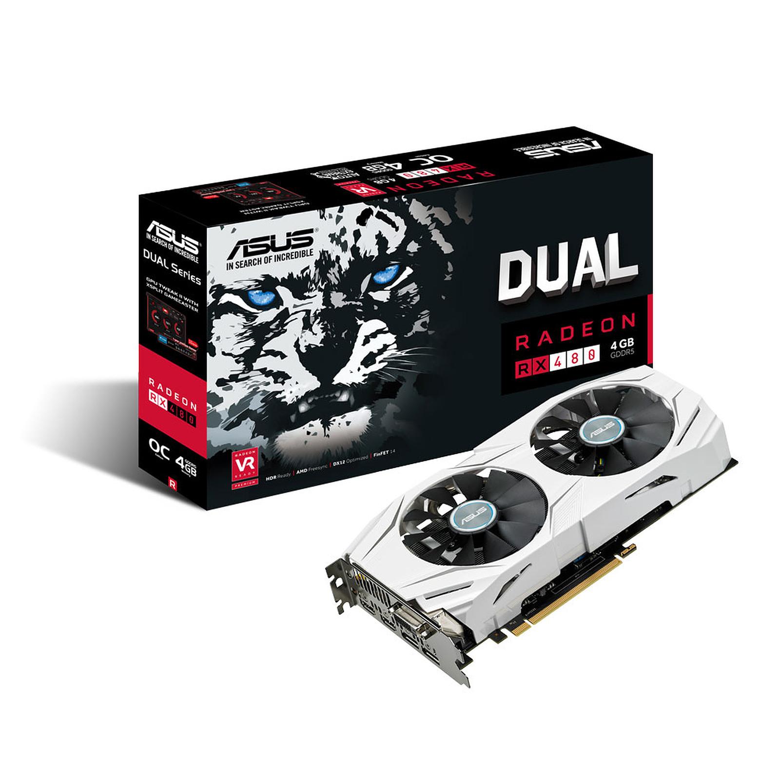 ASUS Dual-RX480-O4G - AMD Radeon RX 480 4 Go