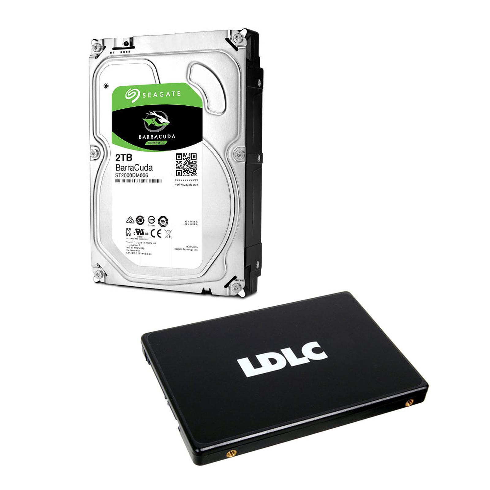Seagate HDD BarraCuda 2 To + LDLC SSD F7 Plus 120 GB