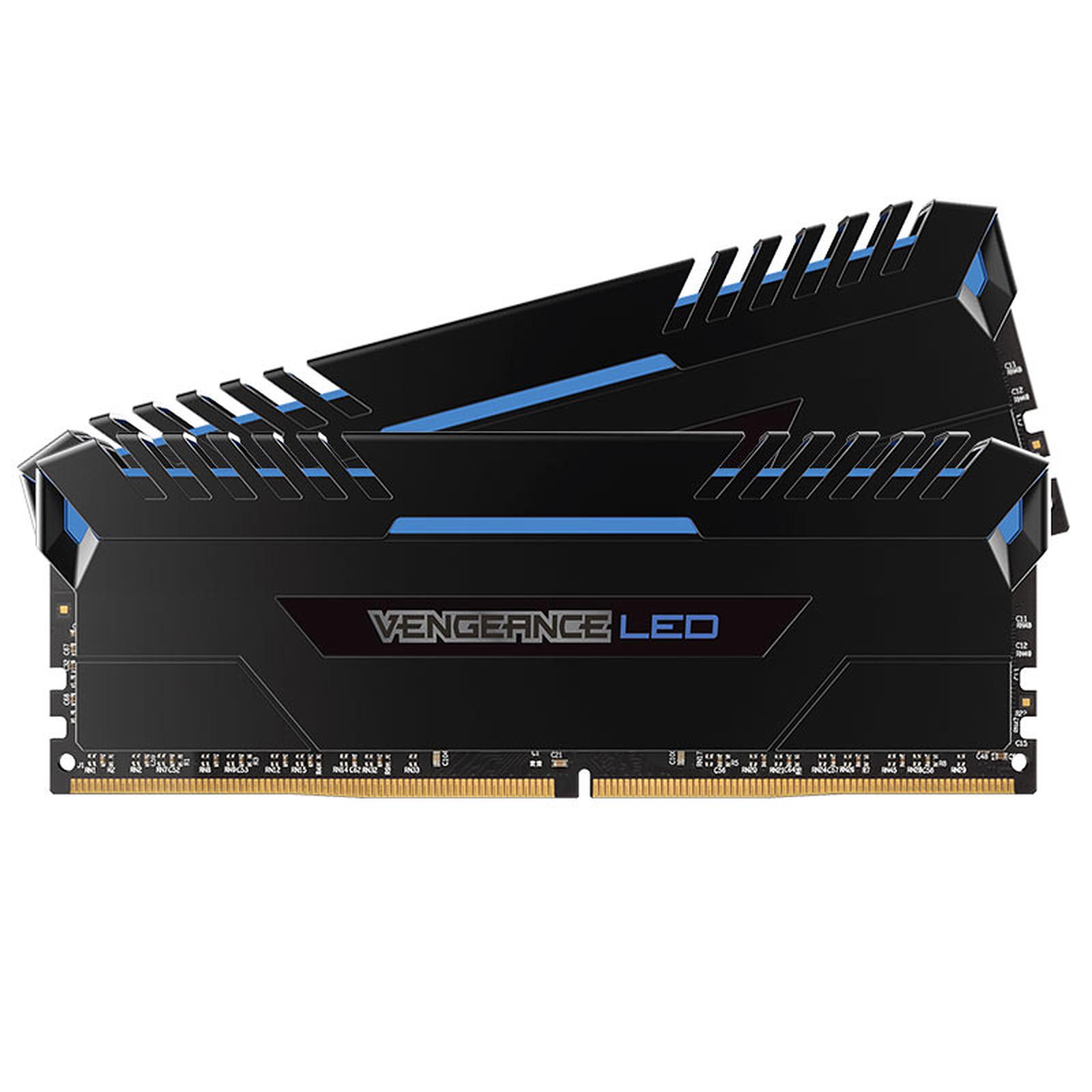 Corsair Vengeance LED Series 16 Go (2x 8 Go) DDR4 2666 MHz CL15 - Bleu