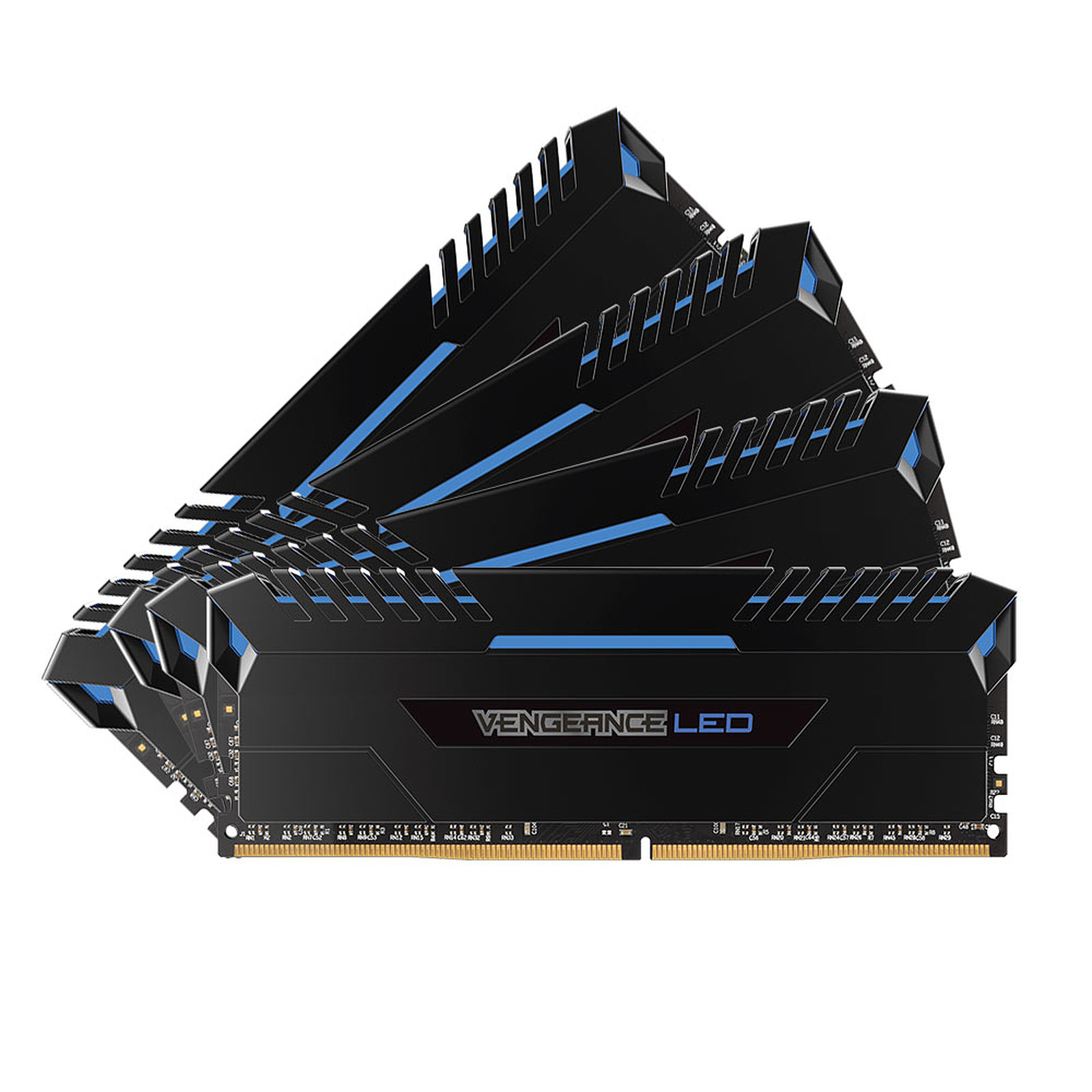 Corsair Vengeance LED Series 32 Go (4x 8 Go) DDR4 3000 MHz CL16 - Bleu