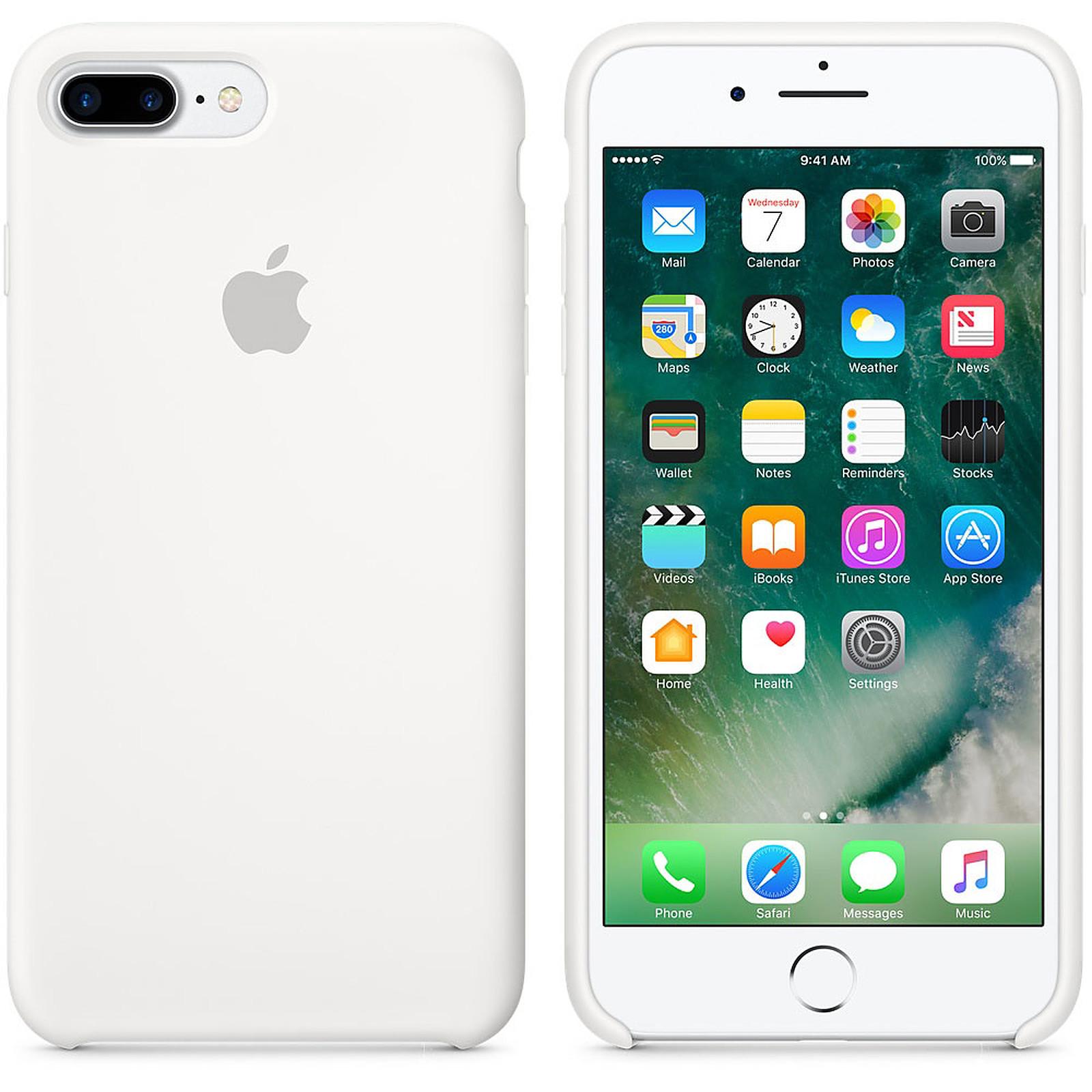 Apple Coque en silicone Blanc Apple iPhone 7 Plus