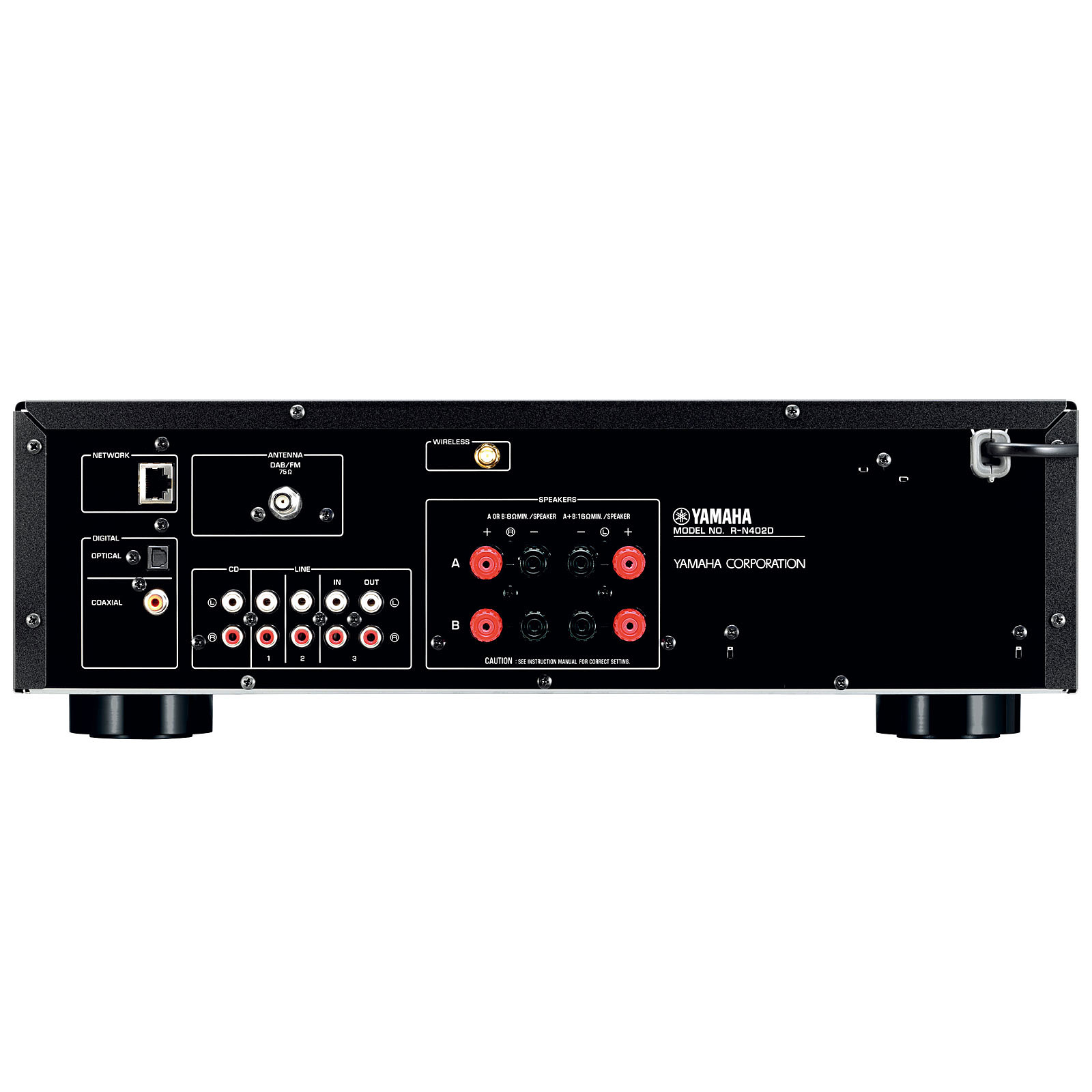 yamaha musiccast r n402d noir amplificateur hifi yamaha. Black Bedroom Furniture Sets. Home Design Ideas