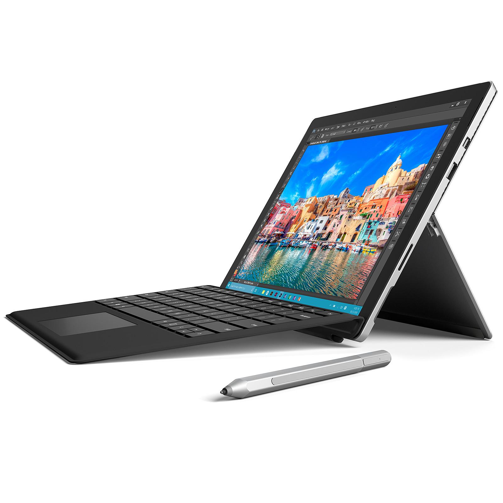 Microsoft Surface Pro 4 - i7-6650U - 16 Go - 256 Go avec clavier Type Cover AZERTY Noir