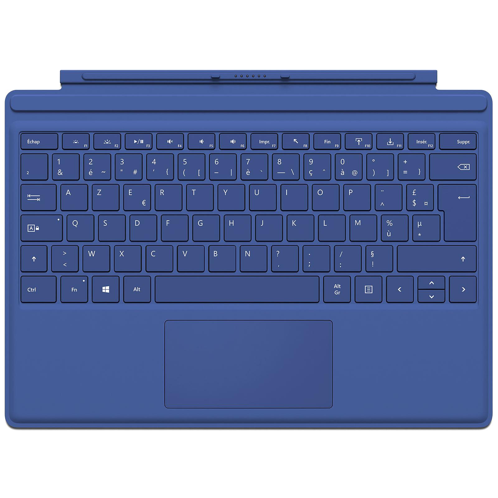 Microsoft Type Cover Surface Pro 4 Bleu