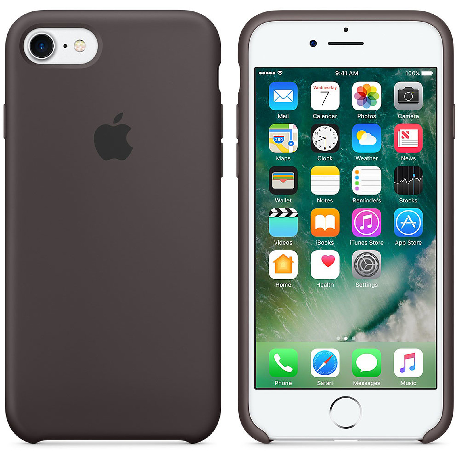Apple Coque en silicone Cacao Apple iPhone 7