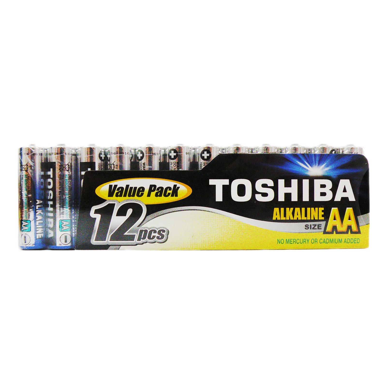Toshiba Pilas Alcalinas AA LR6 (por 12)