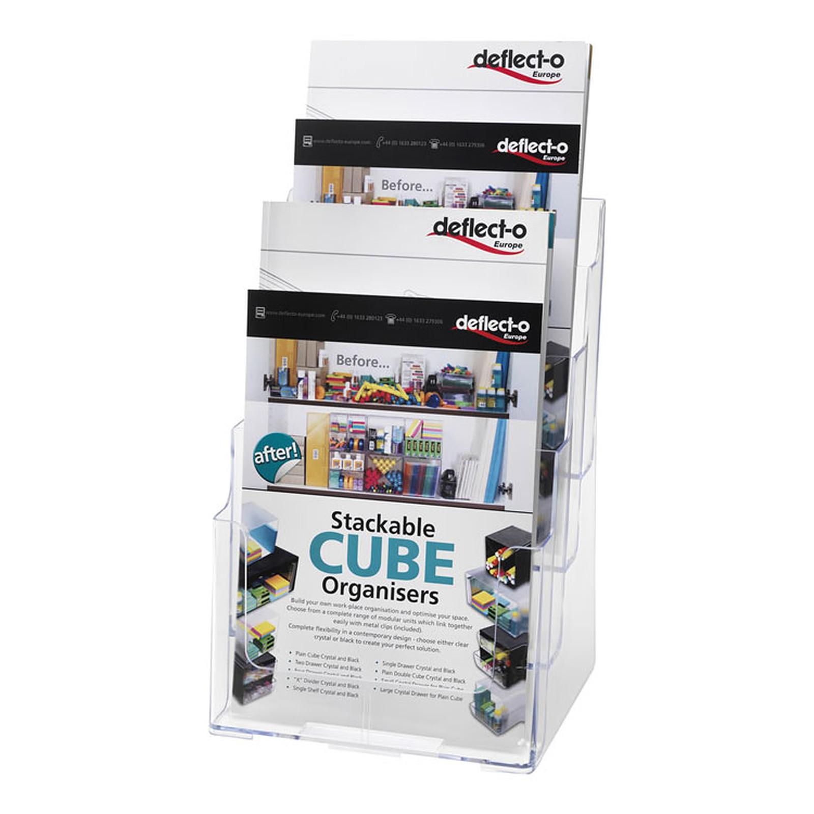 deflecto Docuholder Porte-brochures vertical 4 compartiments A4