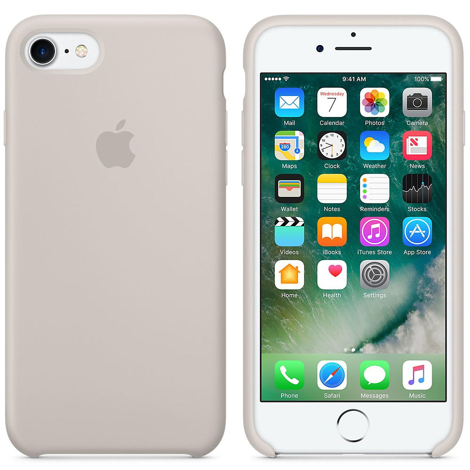 Apple Coque en silicone Gris Sable Apple iPhone 7 - Coque ...